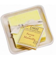 Set Cadou Savoniera Sapun Natural Marsilia Patrat 100g Verveine-Citron Verbina-Lamaie