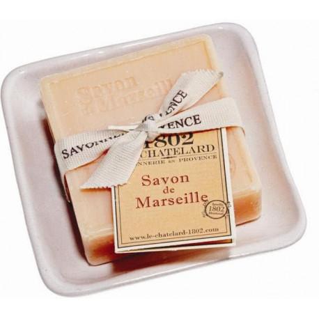 Set cadou savoniera cu sapun de Marsilia CITRICE-CEAI VERDE