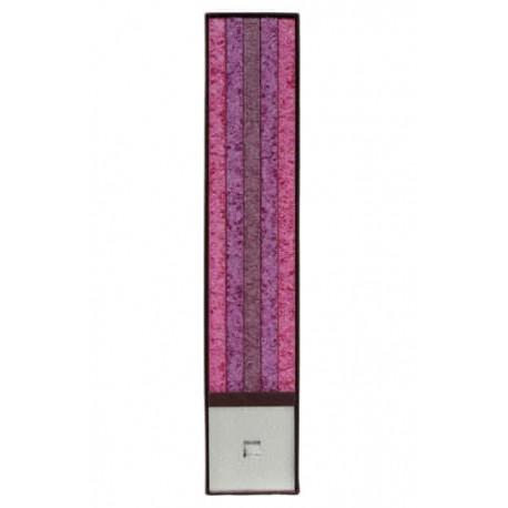 Set Cadou Lumanari Decorative cu Suport Otel Inox Amabiente 14105 Classic Set Pink Purpur Burgund