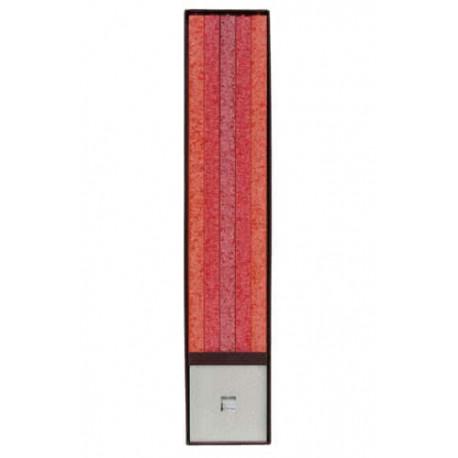 xxSet Cadou Lumanari Decorative cu Suport Otel Inox Amabiente Classic 14104 Koralle Rot Rubin