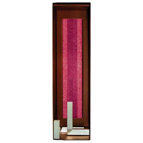 Set Cadou Lumanari Decorative cu Sfesnic Aluminiu Anodizat Amabiente G Tube Red Koralle Red