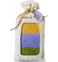 Set cadou sapunuri de Marsilia MIERE de ACACIA, LAVANDA, MASLINE