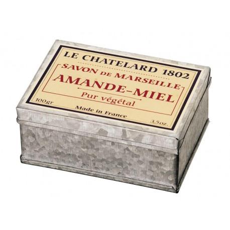 Sapun de Marsilia miere migdale in cutie galva
