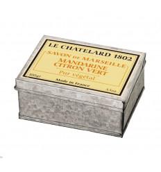 Sapun Natural de Marsilia 100g Mandarine Citron Vert Lamaie Verde Cutie Galva Le Chatelard 1802