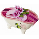 Set Cadou Savoniera Cadita Baie Sapun Natural Marsilia 100g Trandafir Rose