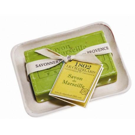 Set Cadou Savoniera Sapun Natural Marsilia 100g Exfoliant Masline Olives Le Chatelard 1802