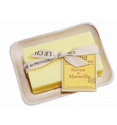 Set cadou savoniera cu sapun de Marsilia VERBINA-LAMAIE