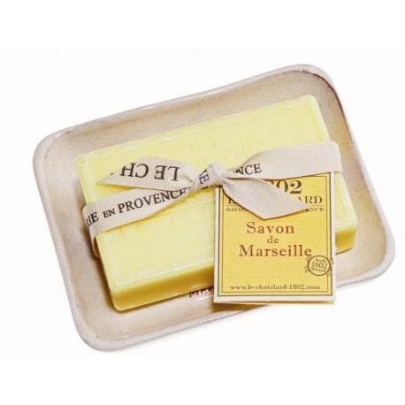 Set Cadou Savoniera Sapun Natural Marsilia 100g Verveine Citron Verbina Lamaie Le Chatelard 1802