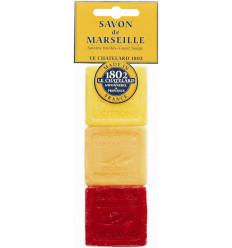 Set cadou sapunuri de Marsilia LAMAIE PORTOCALE-GRAPEFRUIT FRUCTE ROSII, voiaj
