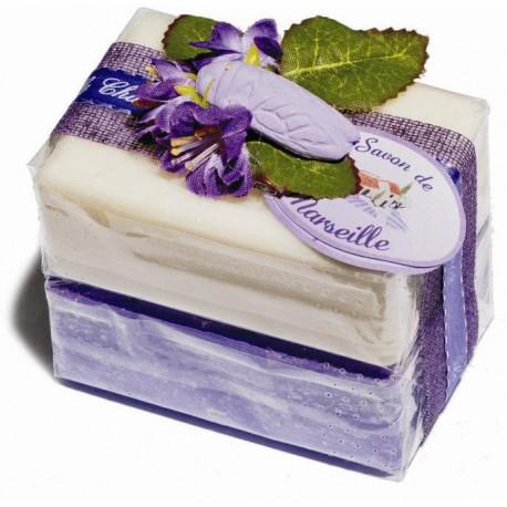 Set cadou sapunuri de Marsilia VIOLETE IASOMIE
