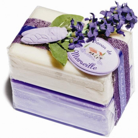 Set cadou sapunuri de Marsilia LAVANDA IASOMIE