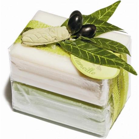 Set cadou sapunuri de Marsilia MASLINE exfoliant IASOMIE