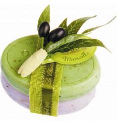 Set cadou sapunuri de Marsilia MASLINE LAVANDA exfoliant