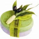 Set cadou sapun Marsilia MASLINE LAVANDA, 2 x 100g exfoliant oval