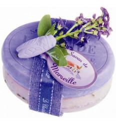 Set cadou sapunuri de Marsilia LAVANDA traditional si  exfoliant