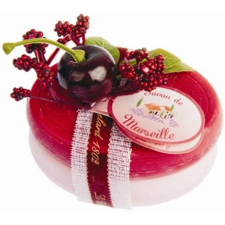 Set cadou sapunuri de Marsilia CIRESE-VISINE TRANDAFIR-BUJOR