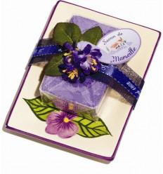 Set cadou savoniera sapun de Marsilia VIOLETE