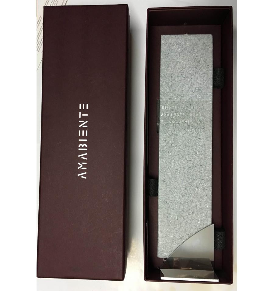 Set Cadou Lumanare Decorativa Cu Suport Otel Inox Amabiente Kore 16213 Silvergray Silbergrau