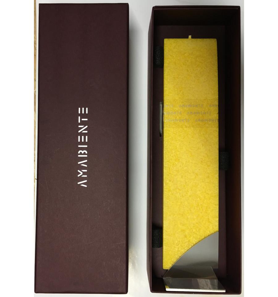 Set Cadou Lumanare Decorativa Cu Suport Otel Inox Amabiente Kore 16227 Kore Sun Yellow Giallo