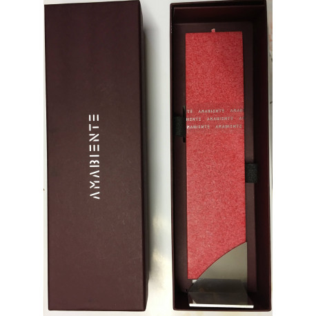 Set Cadou Lumanare Decorativa cu Suport Otel Inox Amabiente Kore 16230 Red