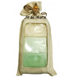Set cadou sapunuri de Marsilia IASOMIE, ALOE VERA, VERBINA