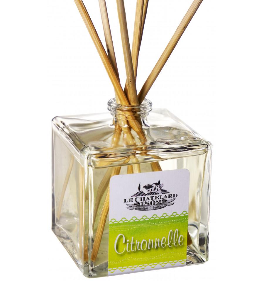 Difuzor Parfum Cu Bete Ratan 100ml Citronelle Le Chatelard 1802 Natural Camera