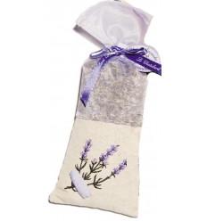 Saculet Flori Lavanda Naturala de Provence 50g Panza In si Organza Brodat Le Chatelard 1802