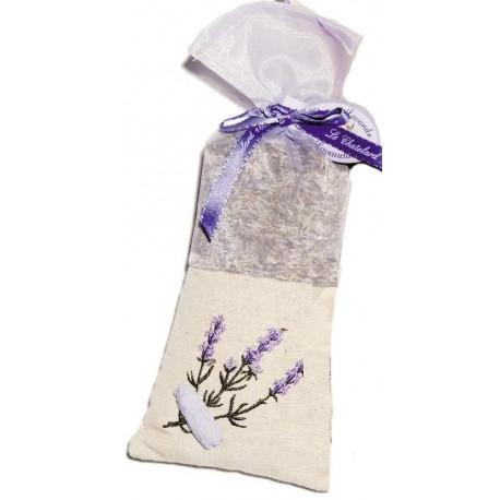 xxSaculet Flori Lavanda Naturala de Provence 50g Panza In si Organza Brodat Le Chatelard 1802