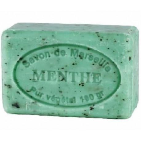 Sapun Natural de Marsilia 100g Exfoliant Menta Spearmint Menthe Feuilles Le Chatelard 1802