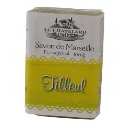 Sapun Natural de Marsilia 100g Exfoliant Flori de Tei Tilleul Fleur Le Chatelard 1802