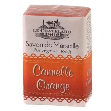 Sapun Natural de Marsilia 100g Scortisoara-Portocala Cannelle-Orange Le Chatelard 1802
