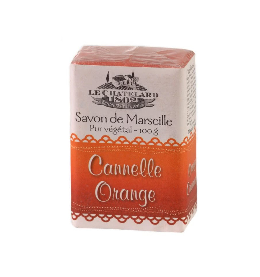Sapun Natural de Marsilia 100g Scortisoara-Portocala Cannelle-Orange Le Chatelard 1802