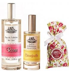Pachet Apa de Toaleta Rose Trandafir si Parfum Camera Caprifoi si Flori Lavanda