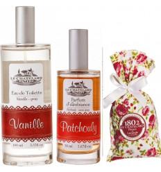 Pachet Apa de Toaleta Vanilie si Parfum Camera Patchouli si Flori Lavanda