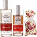 Apa naturala de toaleta VANILIE, parfum camera PACIULI, flori LAVANDA