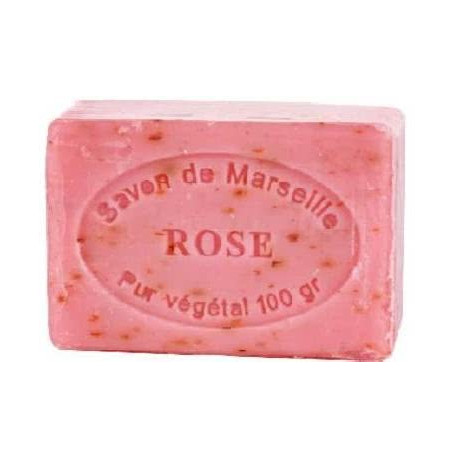 Sapun Natural de Marsilia 100g Exfoliant Trandafir Rose Le Chatelard 1802