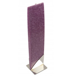 Set Cadou Lumanare Decorativa cu Suport Otel Inox  Amabiente Kore 16246 Purple Violet Mov