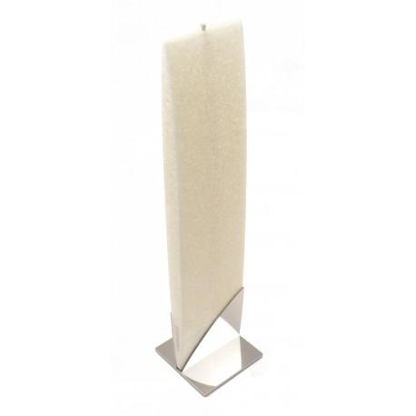 Set Cadou Lumanare Decorativa cu Suport Otel Inox AMABIENTE KORE 16201 White Weiss