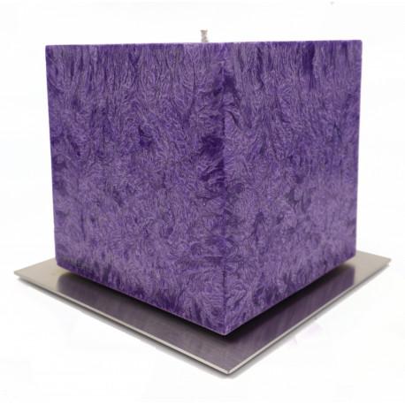 Set Cadou Lumanare Decorativa cu Suport Otel Inox  Amabiente Kubus 16433 Violet Plum Mov