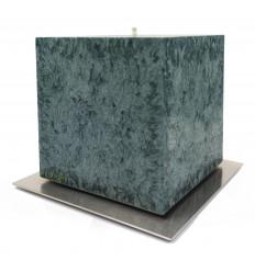 Set Cadou Lumanare Decorativa cu Suport Otel Inox  Amabiente Kubus 16438 Ivy Edera Verde