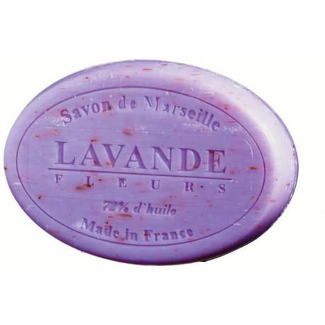 Sapun Natural de Marsilia 100g Exfoliant FloriLavanda de Provence Le Chatelard 1802 Oval