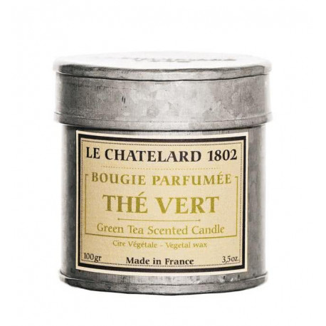 Lumanare Parfumata 100g Ceai Verde The Vert Le Chatelard 1802 Cutie Galva