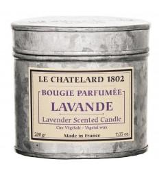 Lumanare Parfumata 200g Lavanda de Provence Le Chatelard 1802 Cutie Galva 2 Fitile