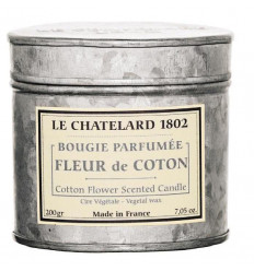 Lumanare Parfumata 200g Fleur de Coton Bumbac Le Chatelard 1802 Cutie Galva 2 Fitile