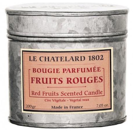 Lumanare Parfumata 200g Fructe Rosii Le Chatelard 1802 Cutie Galva 2 Fitile