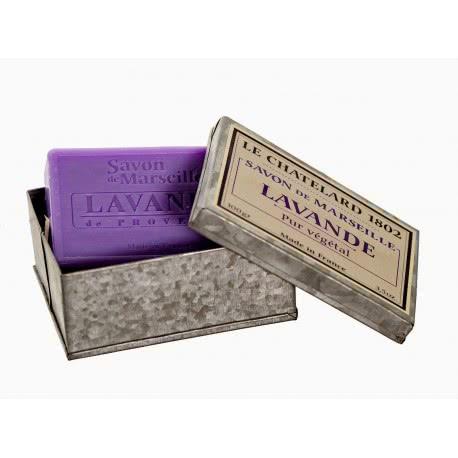 Cadouri simbolice - săpun de Marsilia in cutie metalica