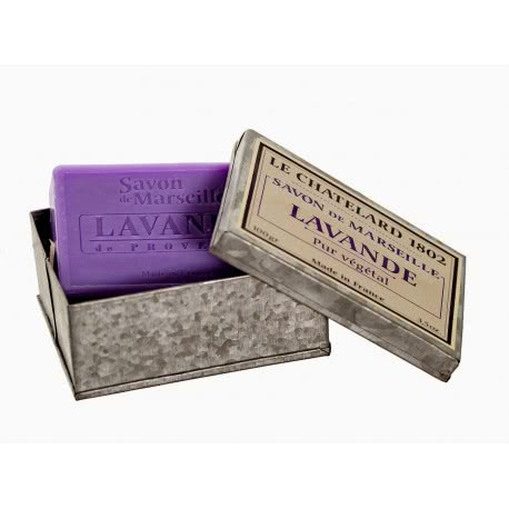 Cadouri simbolice - sapunuri de Marsilia in cutie metalica